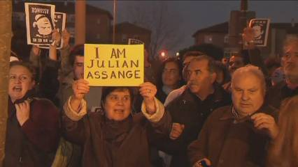 Manifestacions en defensa d'Assange