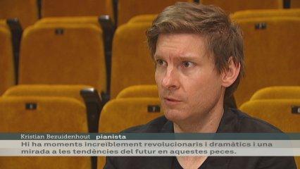 Assaig de Kristian Bezuidenhout al Palau de la Música