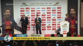 Tercera Bota d'Or per a Messi