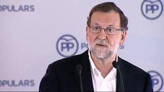 """Mariano Rajoy: """"que decida lo que quiera"""" li etziba a Sánchez i hi votarà en contra."""