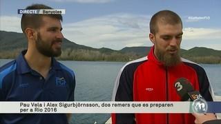 Pau Vela i Alex Sigurbjörnsson, dos remers que es preparen per a Rio 2016