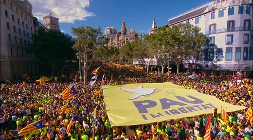Diada multitudinaria y suspensión de la Ley de transitoriedad